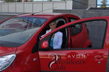 Вже власниця ексклюзивно брендованого авто від Avon